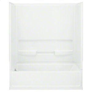"""Advantage™, Series 6103, 60"""" x 30"""" x 72"""" Bath/Shower with Age in Place Backers - Left-hand Drain - White Product Image"""