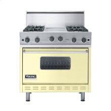 """Lemonade 36"""" Open Burner Commercial Depth Range - VGRC (36"""" wide, four burners 12"""" wide griddle/simmer plate)"""