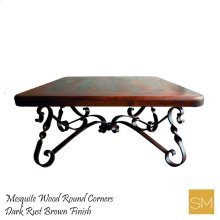 Mesquite Wood Square Coffee Table