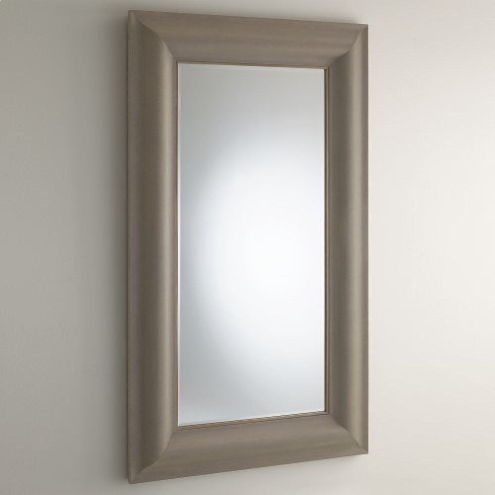 Toile Linen Floor Mirror-Grey