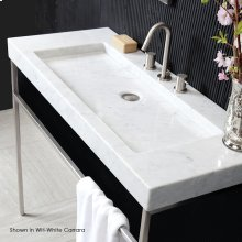 Vessel or vanity top stone Bathroom Sink without an overflow. Unfinished back.