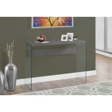 "ACCENT TABLE - 44""L / GREY / TEMPERED GLASS"
