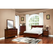 Tamarack Brown Cherry Queen Bed