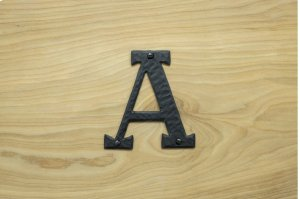 """A Black 4"""" Mailbox House Number 450150 Product Image"""