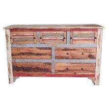 Multi Color Louvered Dresser