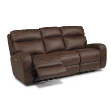 Sassy Fabric Power Reclining Sofa with Power Headrests
