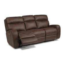 Sassy Fabric Power Reclining Sofa with Power Headrests