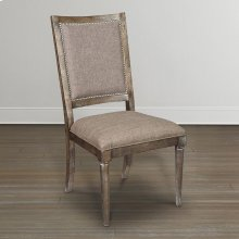 Northern Grey Compass Upholstered Back Side Chair