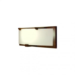 Plank Sconce - Flat Glass - WS440 Silicon Bronze Brushed Product Image