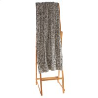 Dark Grey & White Marled Chunky Cable Knit Throw Product Image