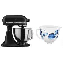 Exclusive Artisan® Series Stand Mixer & Ceramic Bowl Set - Black Matte