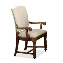 Mix-N-Match Upholstered Arm Chair Warm Tobacco finish