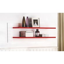 Red Wall shelf