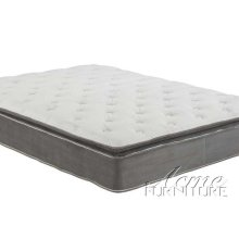 Cicely Gray Suede Queen Size Pillow Top Mattress Set