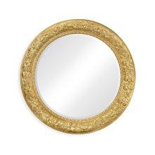 Large Circular Gilded Mirror