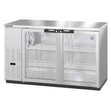 HBB-2G-LD-59-S, Refrigerator, Two Section, Stainless Steel Back Bar Back Bar, Glass Doors