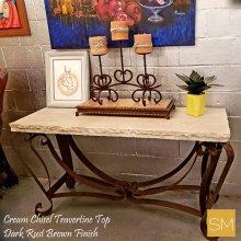 * Travertine Console Table 1229 C