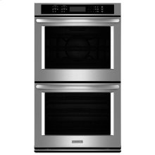 """KitchenAid® 30"""" Double Wall Oven with Even-Heat True Convection - Stainless Steel"""