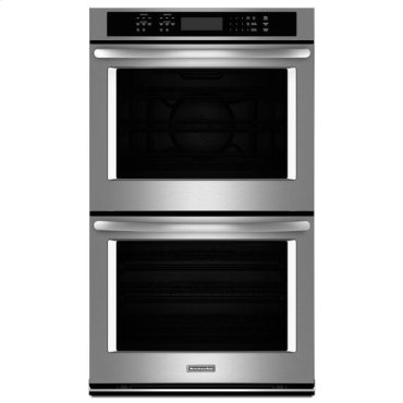 "KitchenAid® 30"" Double Wall Oven with Even-Heat True Convection - Stainless Steel"