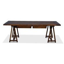 Sawhorse Desk, Antique Brown