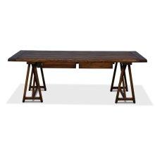 Sawhorse Desk, Antique Brown