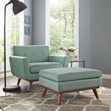 Engage 2 Piece Armchair and Ottoman in Laguna