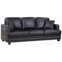 "Ferrara Leather Sofa - 83.5"" W x 35"" D x 34"" H"