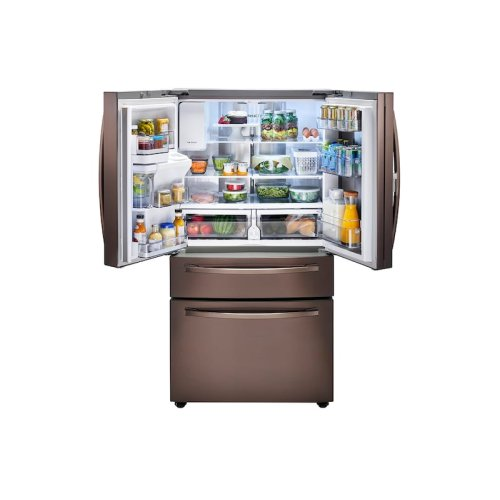 22 cu. ft. Food Showcase Counter Depth 4-Door French Door Refrigerator in Tuscan Stainless Steel