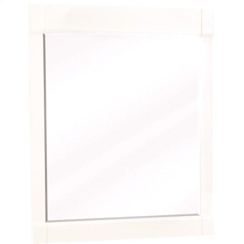 "28"" x 34"" Beveled glass mirror with Cream White finish."