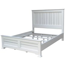 Cottage Queen Bed - Wht