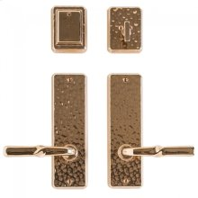 """Hammered Entry Set - 2 1/2"""" x 8"""" Silicon Bronze Brushed"""