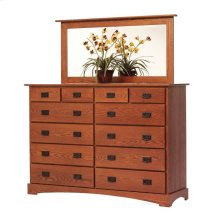 "Old English Mission 66"" High Dresser- Mirror"