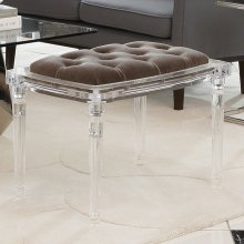 Marilyn Acrylic Four Leg Bench-COM