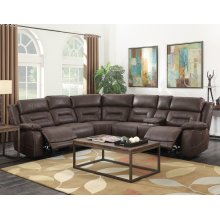 Steve Silver Co. Aria Saddle Brown 3 Piece Recliner Sectional Sofa Set