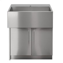 "OUTDOOR KITCHEN CABINETS IN STAINLESS STEEL  PURE 30"" Sink Cabinet SocialCorner 2 doors Left"