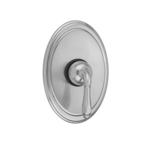 Antique Brass - Oval Plate With Smooth Lever Trim For Pressure Balance Valve (J-PBV) Product Image
