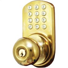 Touchpad Electronic Doorknob (Polished Brass)