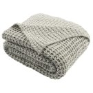 Haven Knit Throw - Light Grey/natural Product Image