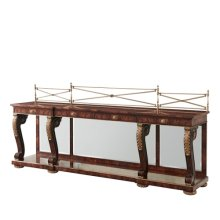 A Mahogany Breakfront Buffets / Sideboards