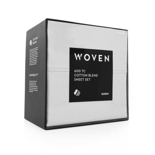 600 TC Cotton Blend - Split Queen Ash