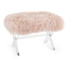 Camlin Tibetan Fur and Acrylic Bench