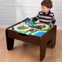 2-in-1 Activity Table With Board - Espresso