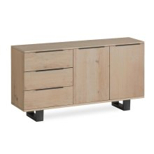 White Oil Small Sideboard Metal Base