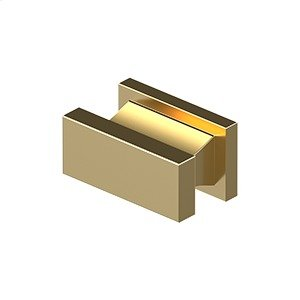 """Contemporary Knob, Anvil, 3/4""""x 1-1/2""""x 7/8"""" - PVD Polished Brass Product Image"""