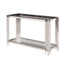 2-tier Silver/glass Console Table, Kd