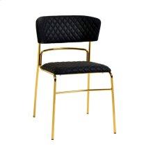 Drant Black Vegan Leather Chair (Set of 2)