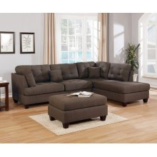 F6582 / Cat.19.p8- 3PCS SECTIONAL BLK COFFEE