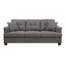 Emerald Home Clearview Sofa W/2 Pillows Grey U3610a-00-13