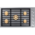 "Modernist 36"" Gas Cooktop, Silver Stainless Steel, Natural Gas Product Image"