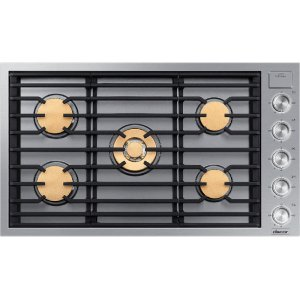 """Modernist 36"""" Gas Cooktop, Silver Stainless Steel, Natural Gas Product Image"""